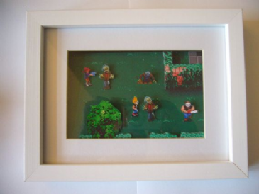 Zombies Ate My Neighbours!   3D Diorama Shadow Box